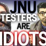 WATCH this man calling the JNU Afzal Guru protesters idiots with logic!