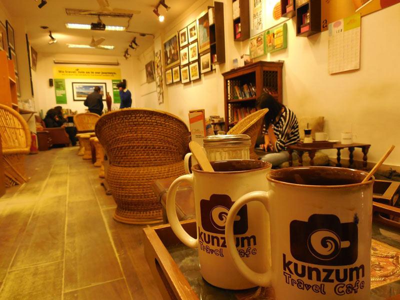 Kunzum Travel Café in Hauz Khas Village