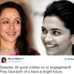 Hema Mailini announced Deepika's Engagement, Twitter users went crazy!
