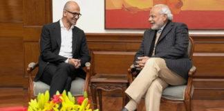 Microsoft CEO Satya Nadella meets PM Narendra Modi
