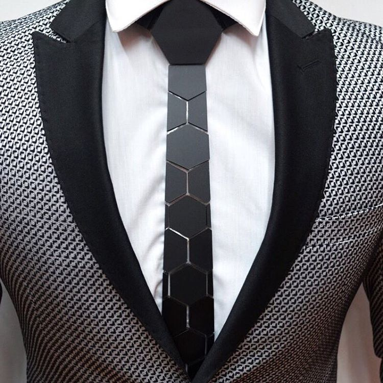 Hex Tie, the modern man's newest accessory