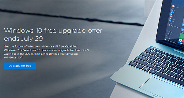 Free Microsoft Windows 10 update offer ends on 29 July