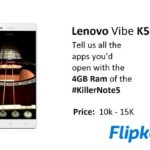 Lenovo Vibe K5 Note Launched; Will Be FlipkartExclusive!
