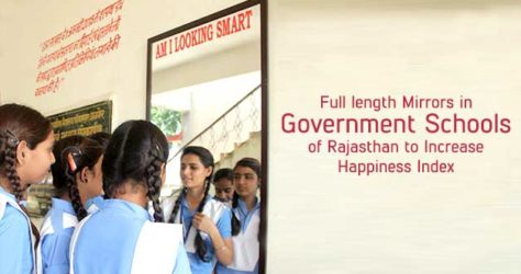 Full length mirrors in Rajasthan Government School