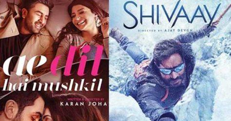 ae dil hai mushkil vs shivaay
