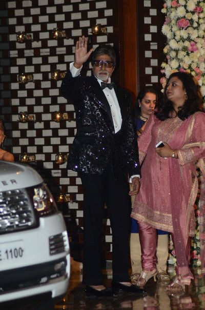 Amitabh Bachchan took the show with his aura and attire.