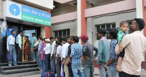Demonetisation Long Queue on ATM