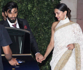 Ranveer and Deepika looked lovable together . Both were spotted hand-tied while walking towards the car.