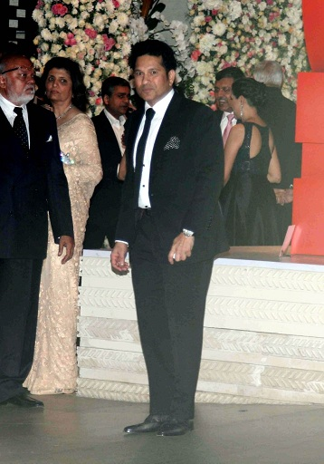 Sachin Tendulkar during the pre wedding party of Ishita Salgaonkar
