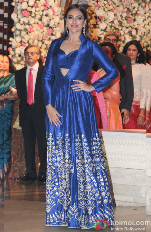 Sonakshi Sinha wore an Anita Dongre creation.