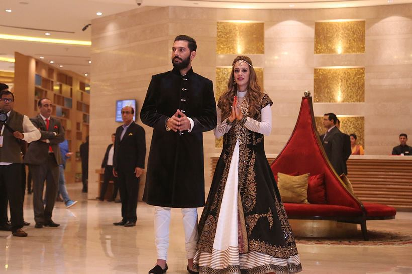The duo looked awe-inspiring and gave us some major wedding-goals. Yuvraj Singh-Hazel Keech