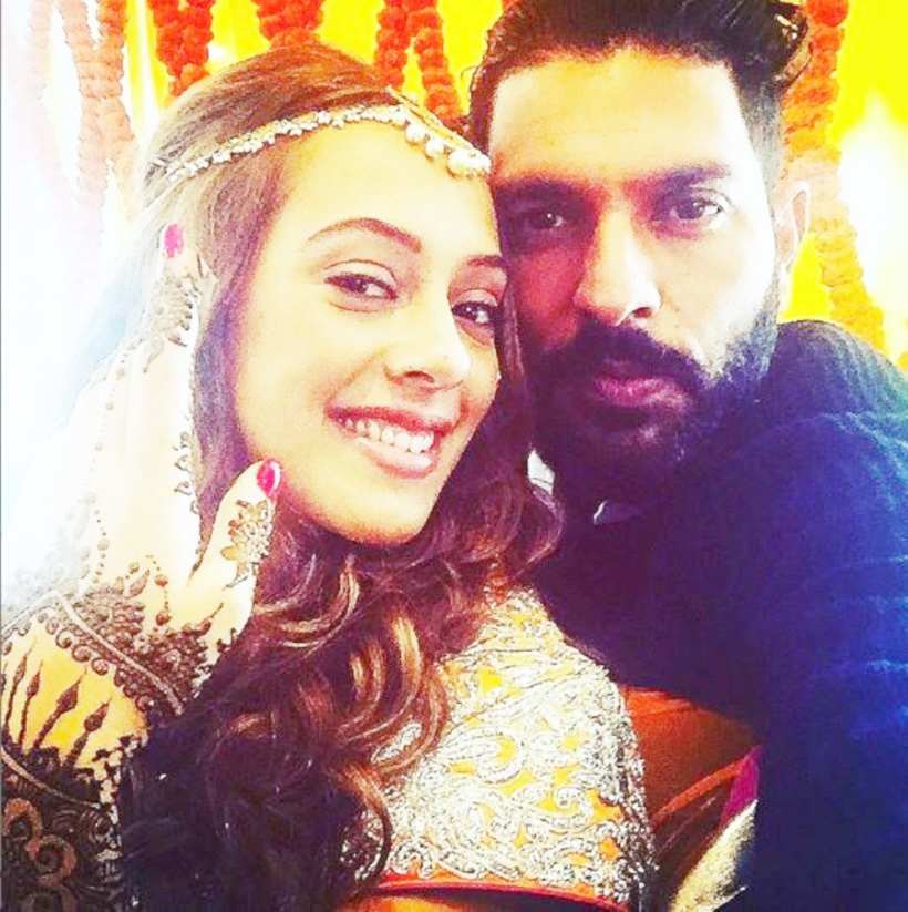 "Yuvraj uploaded a cute picture on his instagram account with the caption, ""ready for a new innings"". Yuvraj Singh-Hazel Keech"