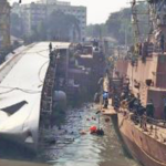 Navy's warship topples in dock, two sailors killed, 14 injured