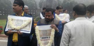 Black Day in India: Opposition in their full 'gangsta' mode.
