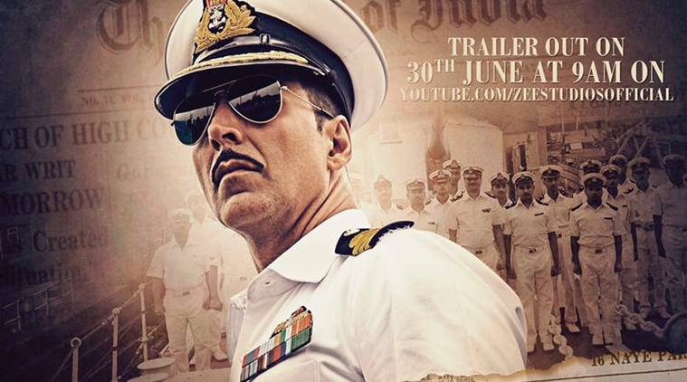 Akshay Kumar as Rustom Pavri looks handsome in his Naval officer avatar.