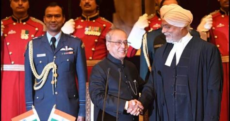 Justice J.S Khehar sworn in as the 44th Chief Justice of India