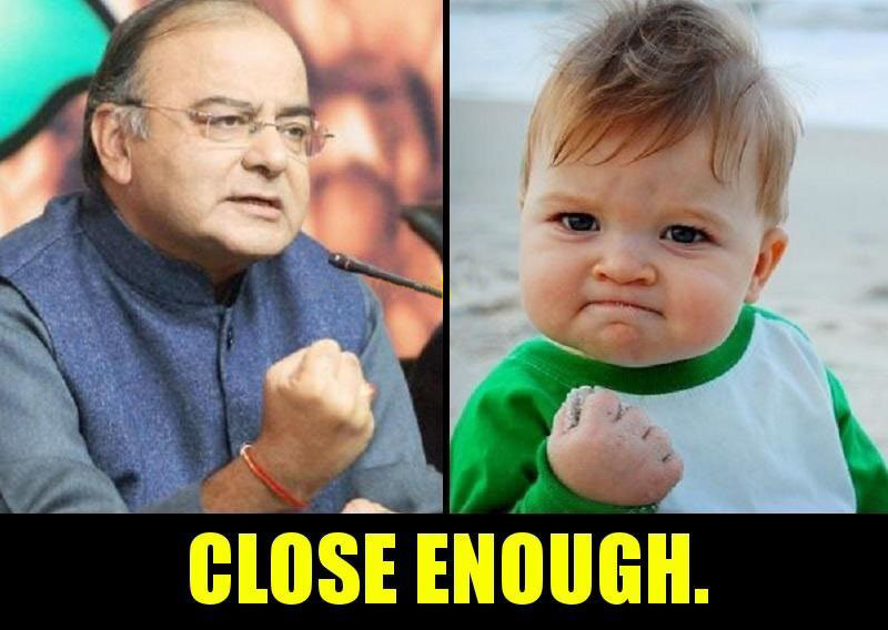 Finance Minister Arun Jaitley after introducing Budget 2017