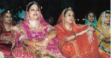 CM Vasundhara Raje with Rajput Queen Vasundhara Raje