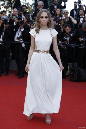Stunning teenager Lily Rose Depp