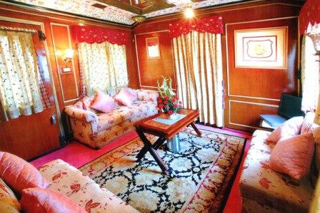 Palace on Wheels: Luxurious cabins inside the train.