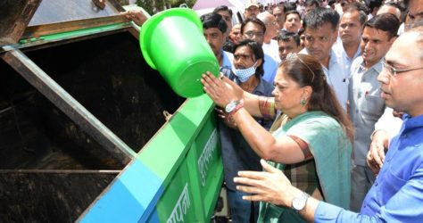 "CM Vasundhara Raje Launches Scheme ""Segregating Garbage at Source"" for Waste Collection in Jaipur"