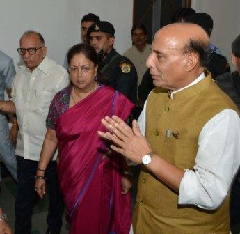 CM Vasundhara Raje and other key officials of the state received Mr. Singh at the airport.
