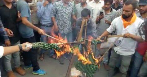 Nagaur Set Ablaze by Rajput Protestants, 25 Cops Injured during Anandpal's Condolence Meet