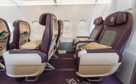 Plush and comfy: Vistara Seats.