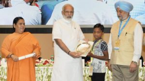 PM Modi gives away Swachh Bharat Awards