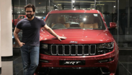 Taimur's Dad Saif Ali Khan Jeep Cherokee