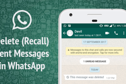 Whatsapp Deleted messages can be retreived