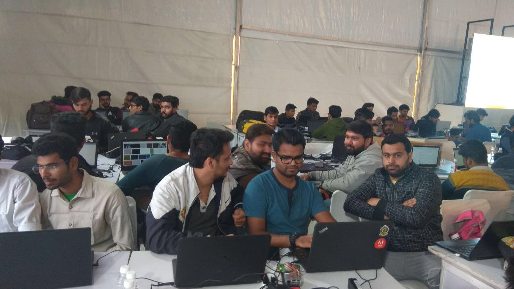 Particpants at Udaipur Hackathon