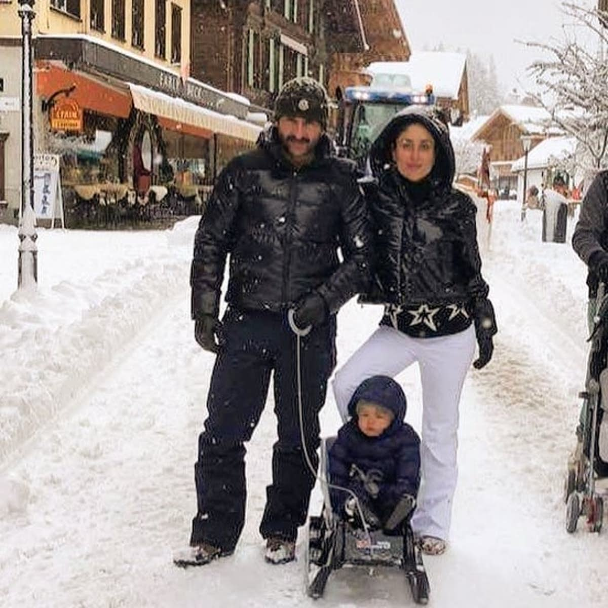 Kareena and Saif in Switzerland