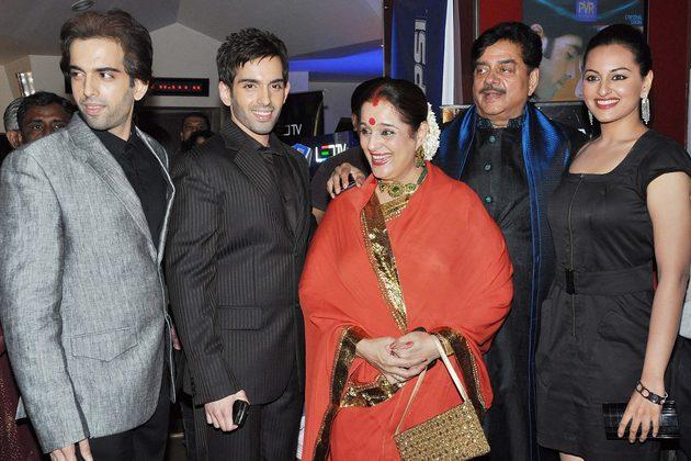 Shatrughan Sinha Family