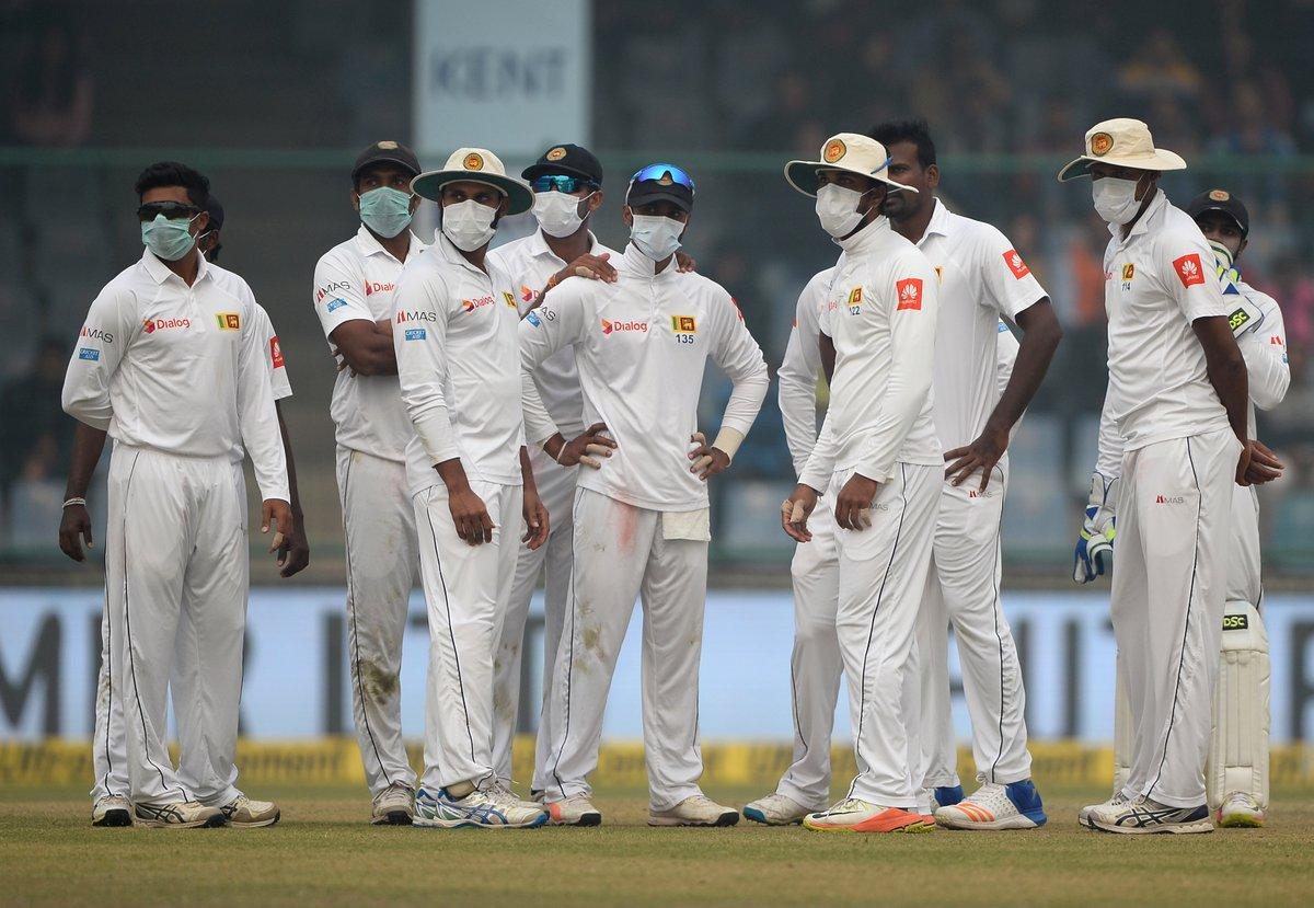 Delhi Smog Interrupts with India Sri Lanka Test Match