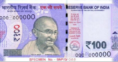 Rs. 100 new note