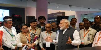 PM Modi at ISRO
