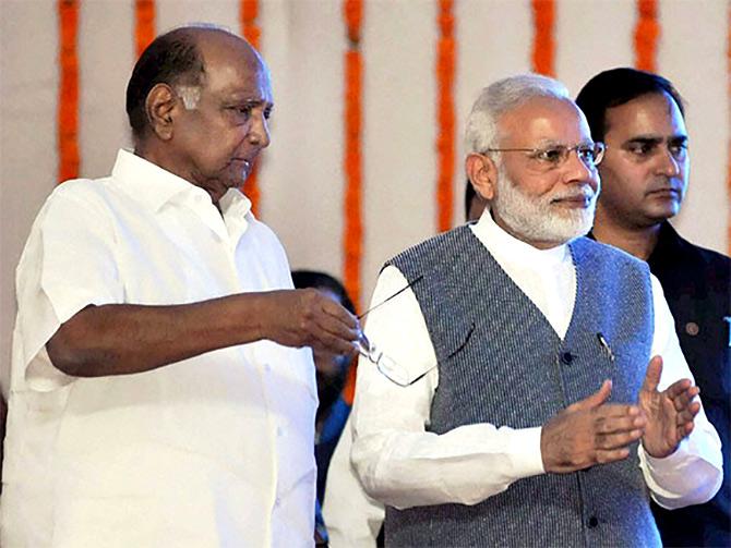 Sharad Pawar, Narendra Modi