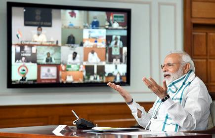 Narendra Modi, video conferencing with chief ministers
