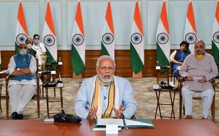 Prime Minister Narendra Modi, videoconferencing with CMs