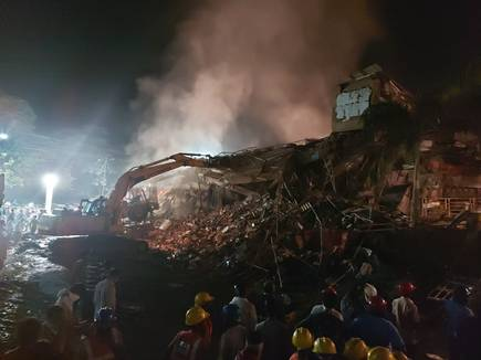 Building collapsed in Maharashtra