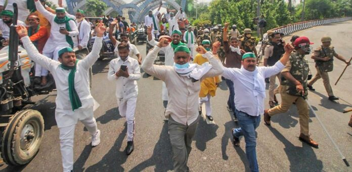 Farmer protests at Delhi-Noida Border