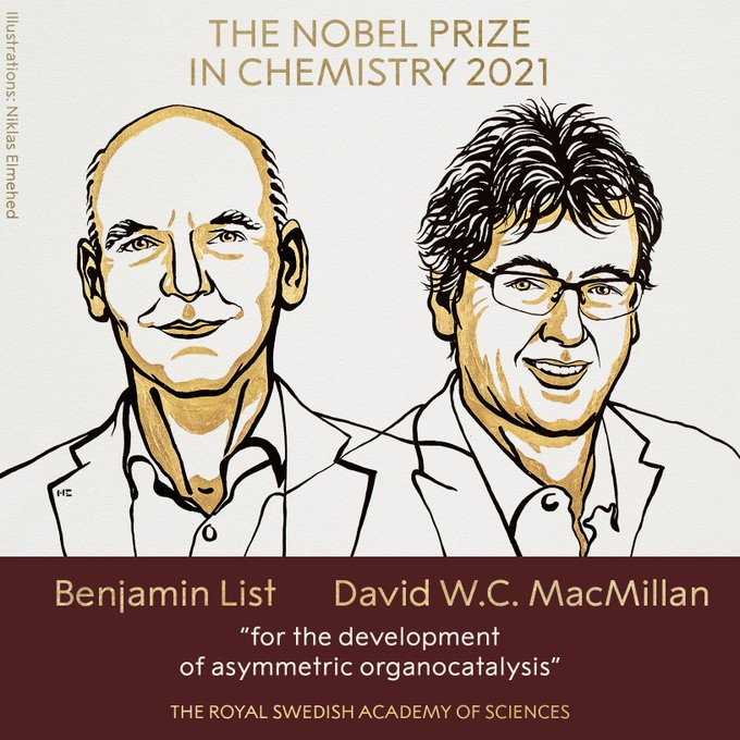 Benjamin List and David WC MacMillan, Noble Prize in Chemistry